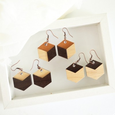 hexagon-wooden-earrings