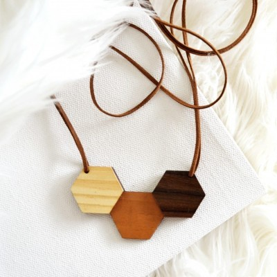 hexagon-wooden-necklace-ii