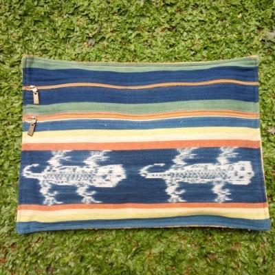 weaving-clutch-mixed-barkcloth-a1