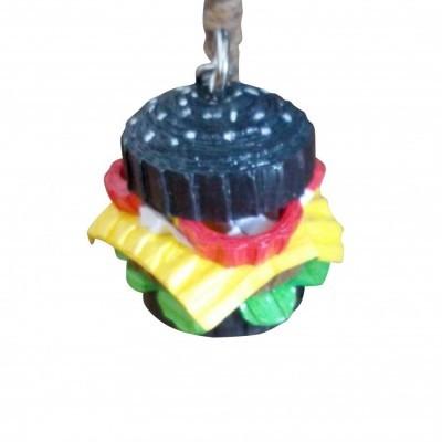 black-burger-keychains