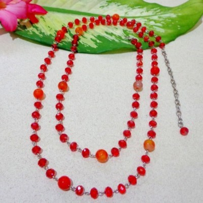 kalung-b019-batu-agate-merah-crystal-merah-panjang