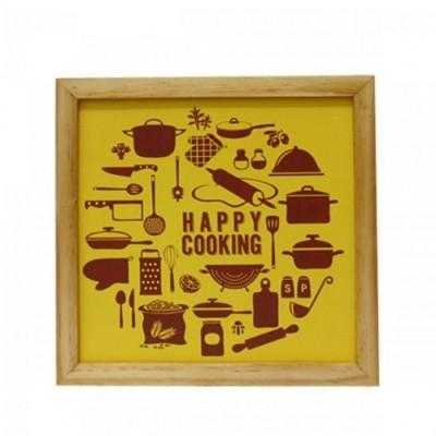 hiasan-dinding-dapur-popliving-happy-cooking-kuning