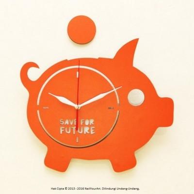 jam-dinding-unik-nail-your-art-artistic-series-piggybank