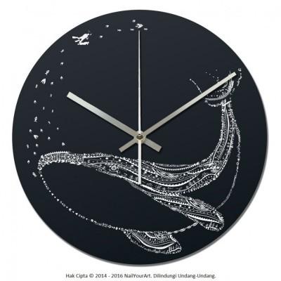jam-dinding-unik-nail-your-art-standard-series-bluewhale