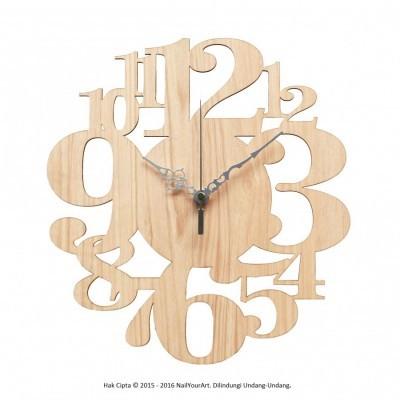 jam-dinding-unik-nail-your-art-artistic-series-numbers-ii