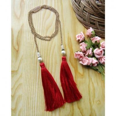 kalung-tassel-merah-2-in-1