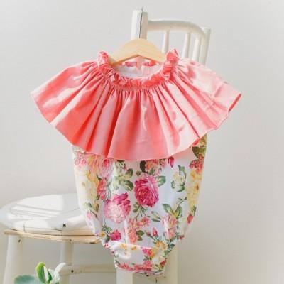 ruffle-neck-boho-romper-vintage-pink-flowers-