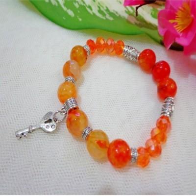 gelang-ab14-batu-agate-orange-kristal-app-kunci