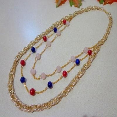 kalung-b025-rantai-gold-batu-agate-red-carnelian-rose-quartz