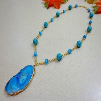 kalung-b031-batu-lake-superior-agate-soft-blue-turquoiscat-eye-soft-blue