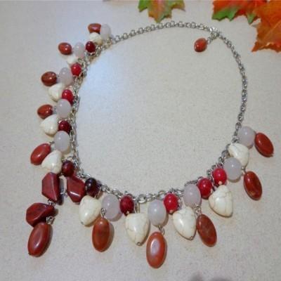 kalung-b024-rumbai-batu-jaspercarnelian-rose-quartz-turquois