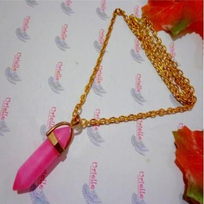 kalung-b027-peluru-batu-agate-pink