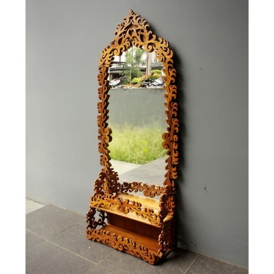 cermin-ukiran-jati
