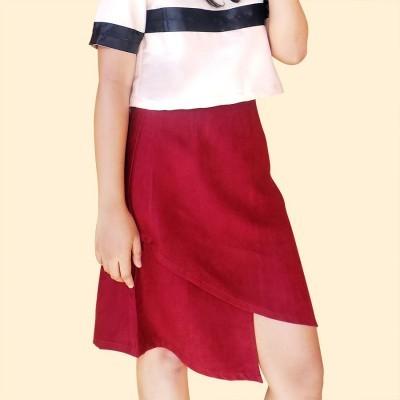 velvet-asymmetric-skirt