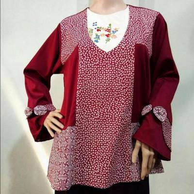 blouse-batik-bunga-bakung-bordir-blc