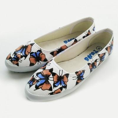 sepatu-lukis-butterfly-pattern
