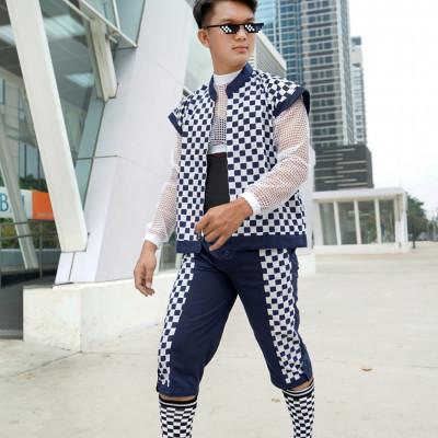 celana-panjang-batik-motif-kotak-biru-putih