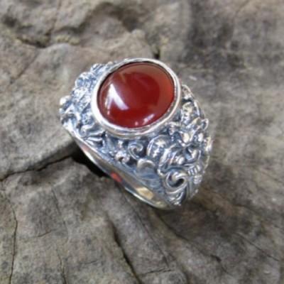 cincin-perak-motif-rangda-batu-carnelian-100336