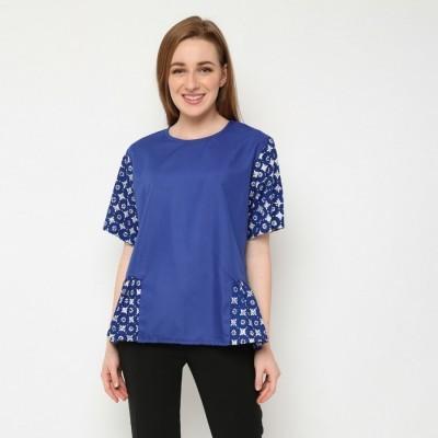 batik-dirga-himalia-atasan-wanita-blouse-batik-blue