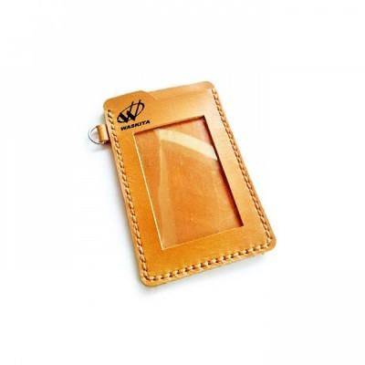 name-tag-id-kulit-asli-warna-tan-logo-waskita-tempat-id-card.-gantungan-id-card-