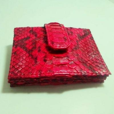 dompet-kartu-kulit-asli-ular-phyton-motif-sisik-perut-warna-merah