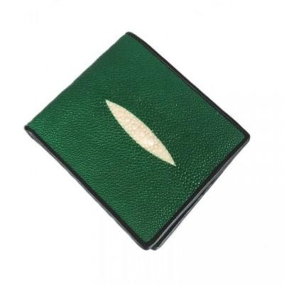 dompet-pria-kulit-asli-ikan-pari-model-bifold-warna-hijau-dompet-pari