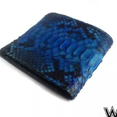 dompet-pria-kulit-asli-ular-phyton-electric-blue-model-bifold