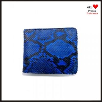 dompet-pria-kulit-asli-ular-phyton-warna-biru-motif-punngung