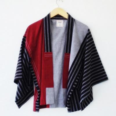 atasan-kimono-lurik-merah