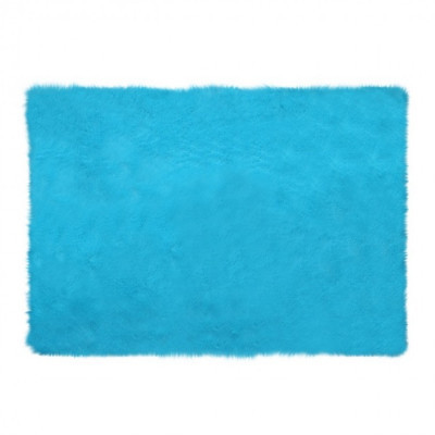 square-blue-mint-fur-rug-200-x-150