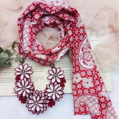 kalung-batik-scarf-lotus-merah
