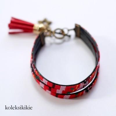gelang-tenun-lestari-merah