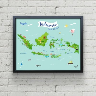 peta-indonesia-50-x-40-cm-art-print
