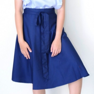 bowknot-midi-skirt-navy-blue