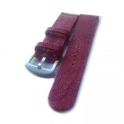 tali-jam-tangan-strap-jam-kulit-asli-ikan-pari-handmade-warna-merah