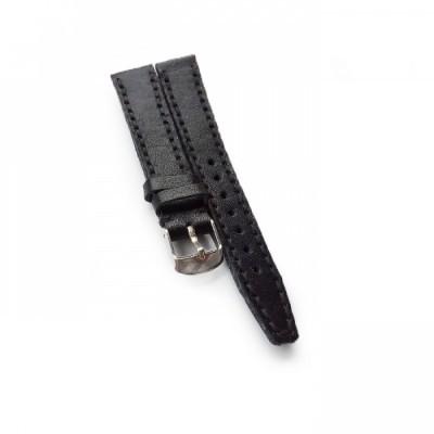 tali-jam-tangan-kulit-asli-sapi-handmade-warna-hitam-size-18-mm-plus-buckle