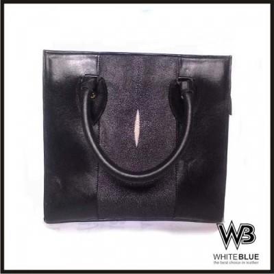 tas-wanita-kulit-asli-ikan-pari-black-colour