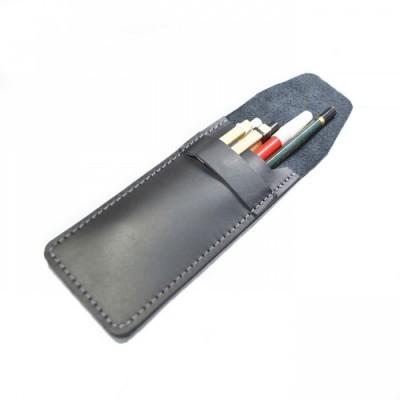 tempat-pensil-kulit-asli-warna-hitam-pencil-case
